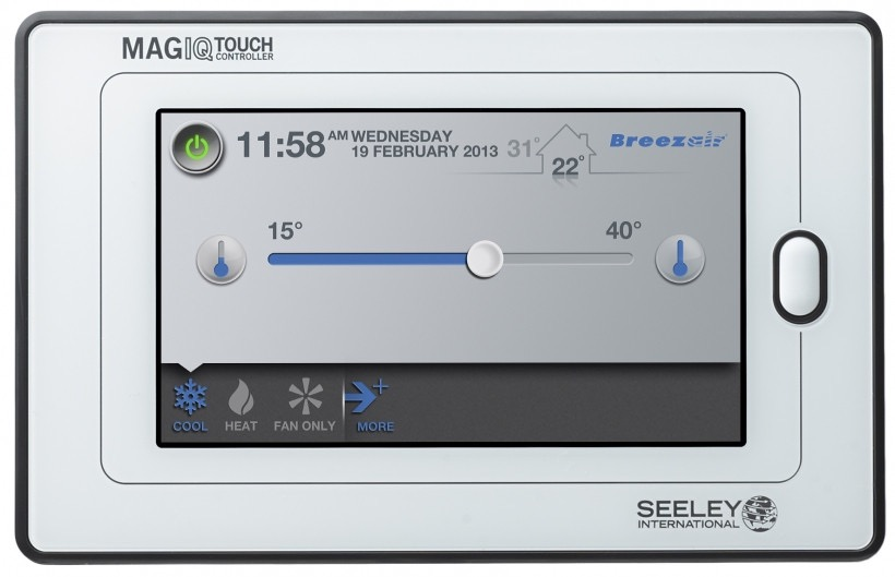 Breezair Tba Series Cooler : Breezair magiqtouch touch screen controller